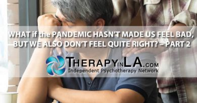 WHAT if the PANDEMIC HASN'T MADE US FEEL BAD, BUT WE ALSO DON'T FEEL QUITE RIGHT? – PART 2